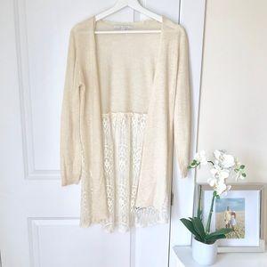 LC Lauren Conrad lace sweater cardigan